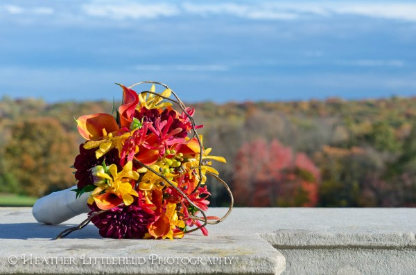 fall wedding bouquet - oheka castle wedding - long island wedding - massachusetts wedding photographer