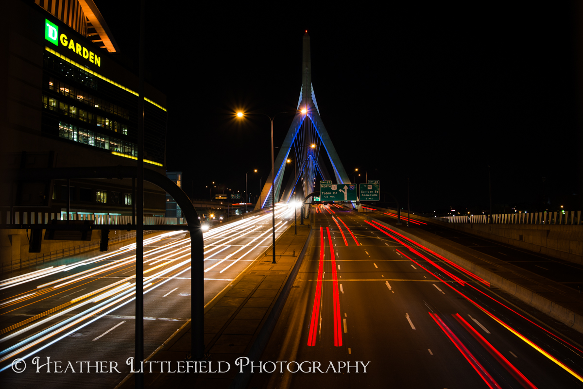 Zakim Bridge TD Garden Night Photography